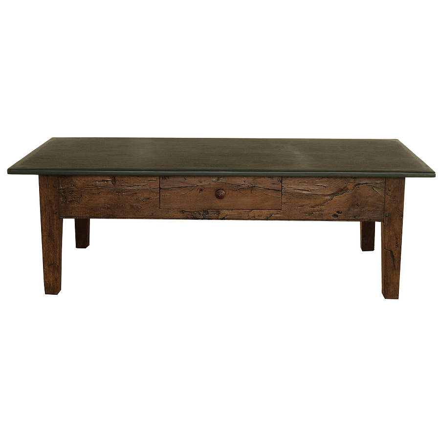 large slate top coffee table by slate top tables | notonthehighstreet.com