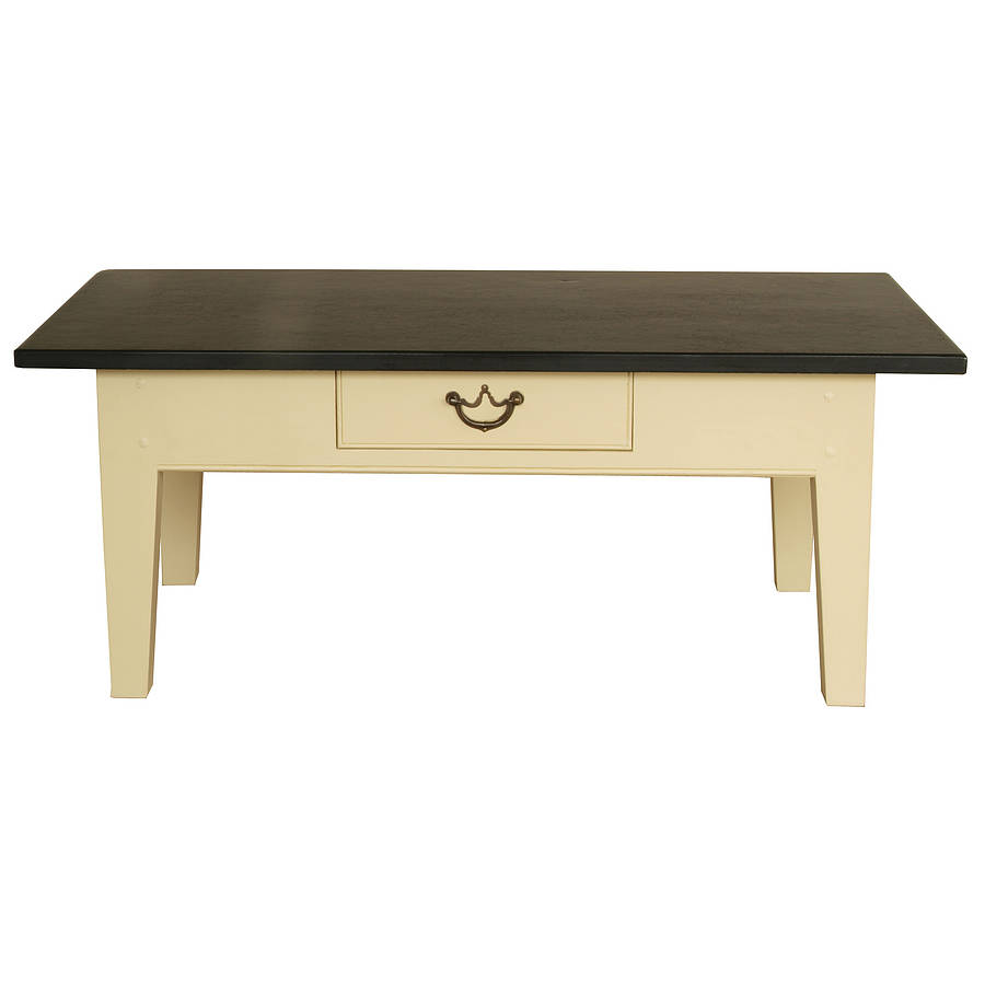 Medium slate top coffee table by slate top tables Slate top coffee tables