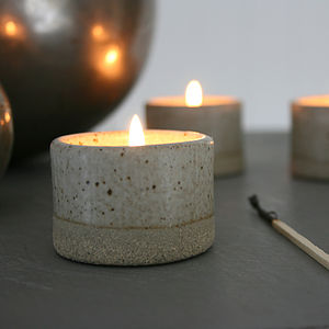 Stoneware Tea Light Holder - votives & tea light holders