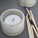 Stoneware Tea Light Holder