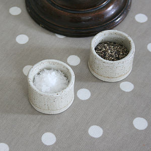 Salt and Pepper Pinch Pots - tableware