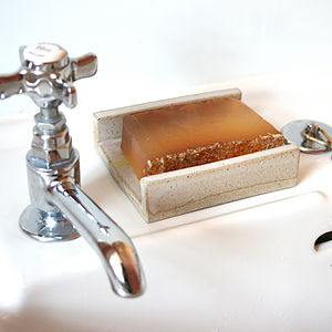 Stoneware Soap Dish Gift - washing & bathing