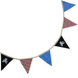 Pirate Bunting - children's room
