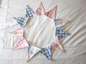 Mini-Bunting ~ Various Colours - outdoor decorations