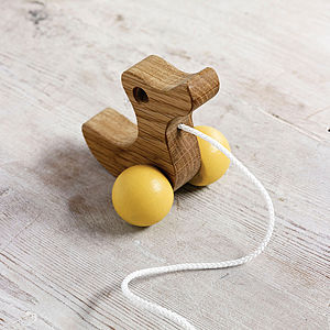 Wooden Duckling Pull Along Wooden Toy - gifts for children