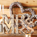 Mr And Mrs Sign Natural Wood