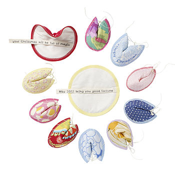 Personalised Handmade Fabric Fortune Cookies