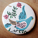 Vintage Wallpaper Pocket Mirror