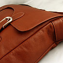 Hand Crafted Leather Satchel - Tan