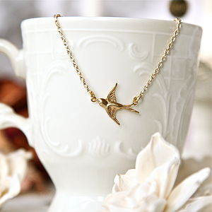 Swallow Charm Necklace - view all sale items