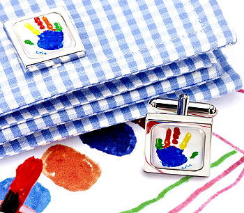 Cufflinks Made From Your Child's Picture