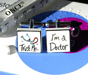 Doctor Bone China Cufflinks - cufflinks