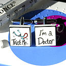 Doctor Bone China Cufflinks