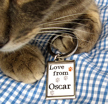 Personalised Keyring From Your Cat
