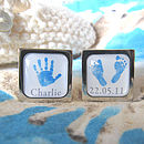 Hands And Feet Personalised Cufflinks