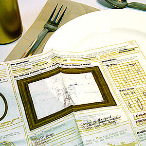 Dinner Party Doodle Napkins - dining accessories