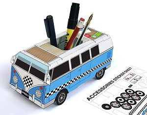 Custom Camper Desk Tidy And Sticker Set - children's storage