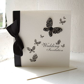 Flutterby Wedding Invitation