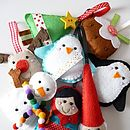 Large Felt Christmas Decorations Handmade