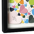 Personlised Vibrant Hearts Framed Picture