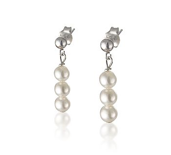 Pearl Row Earrings