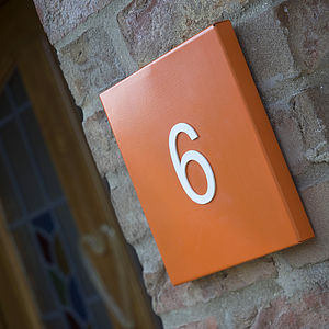 Funky House Number Plates - art & decorations