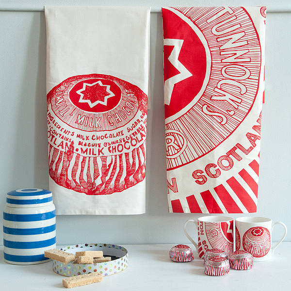 Tunnocks Teacake Set Of Two Tea Towels By Gillian Kyle