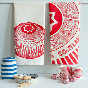 'Tunnocks Teacake' Set Of Two Tea Towels - kitchen linen