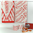 'Tunnocks Caramel Wafer' Set Of Two Tea Towels