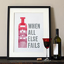 Red Wine Letterpress Print