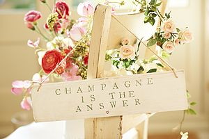 NEW LARGER Champagne Is The Answer Sign - signs