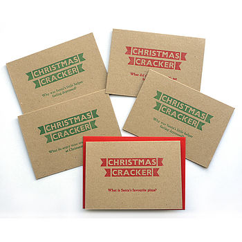 Christmas Crackers Letterpress Cards
