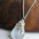 Silver Moonstone Necklace With Pearls