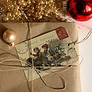 Ten 'Christmas Walk' Recycled Gift Tags