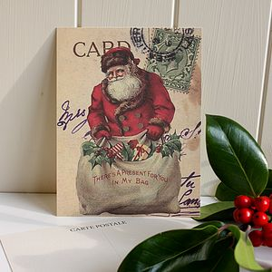 10 'Father Christmas' Vintage Postcards - cards