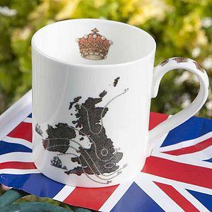 UK Map Mug
