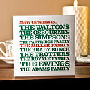 Personalised 'To The Family' Christmas Card