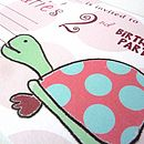 Personalised Turtle Party Invitations