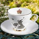 UK Map Tea Cup And Saucer