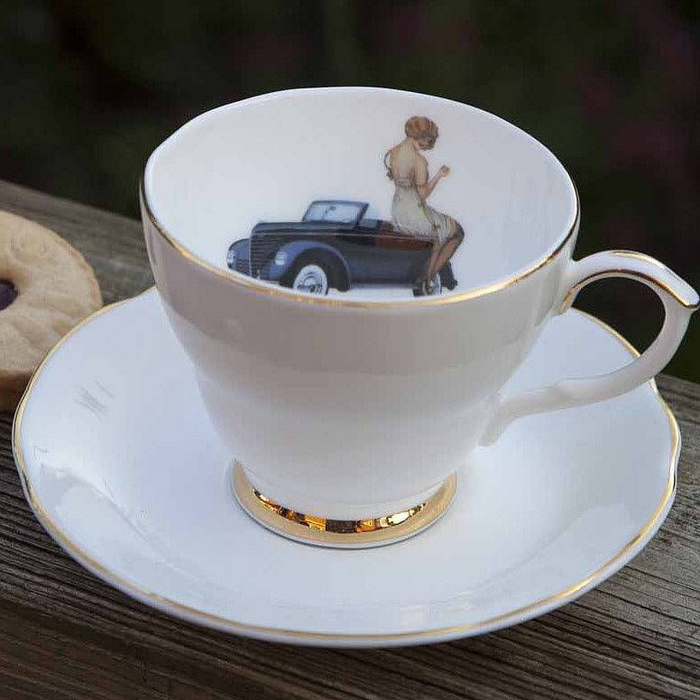 Always An Adventure Tea Cup And Saucer