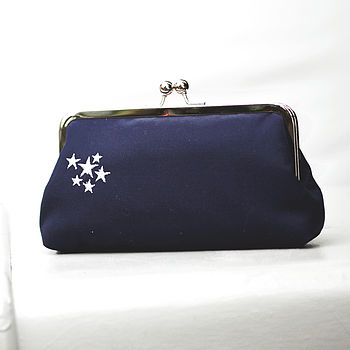 Stardust Embroidered Clutch Bag