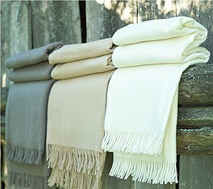 Merino Wool Throw Natural Tones Simone