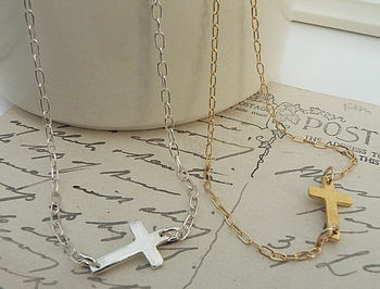Contemporary Cross Necklace