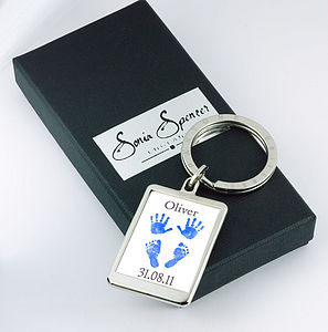 Personalised Hands And Feet Keyring