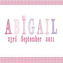 Personalised Baby Girl Name Canvas Print