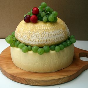 Angel Tiered Cake Of Cheese - bread & cheese