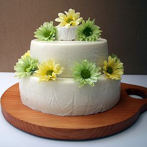 Snow White Tiered Cake Of Cheese - bread & cheese