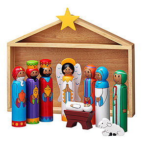 Christmas Stable Nativity Set - view all decorations