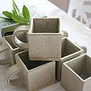 Square Stoneware Mug