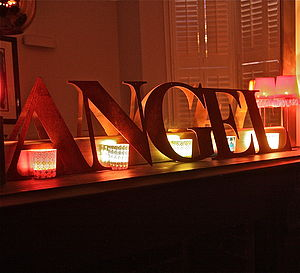 NOEL Or ANGEL Christmas Sign - decorative letters